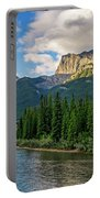 Bow River And Three Sisters Canmore Portable Battery Charger
