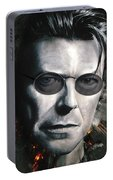 Bowie With Glasses Portable Battery Charger