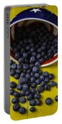 Bowl Pouring Out Blueberries Portable Battery Charger