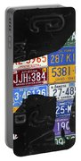 Boxer Dog Pet Owner Love Vintage Recycled License Plate Artwork Portable Battery Charger