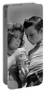 Boy And Girl Sharing A Soda, C.1950s Portable Battery Charger