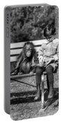 Boy And Orangutan Portable Battery Charger