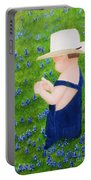 Boy In The Bluebonnets Portable Battery Charger