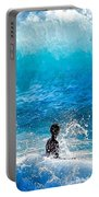 Boy And Wave   Kekaha Beach Portable Battery Charger