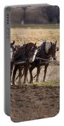 Boy Waiting With Horses Portable Battery Charger
