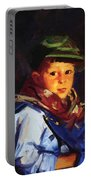 Boy With A Green Cap Also Known As Chico 1922 Portable Battery Charger