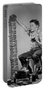 Boy With Huge Stack Of Toast, C.1950s Portable Battery Charger
