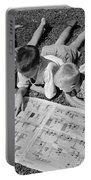 Boys Reading Newspaper Comics, C.1950s Portable Battery Charger