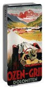 Bozen-gries - Dolomiten - Bolzano-gries - Retro Travel Poster - Vintage Poster Portable Battery Charger