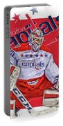 Braden Holtby Washington Capitals Oil Art Portable Battery Charger