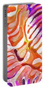 Brain Coral Abstract 6 In Orange Portable Battery Charger