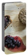 Bran Muffins With Mulberry Jam Portable Battery Charger