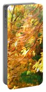 Branch Of Autumn Leaves Portable Battery Charger