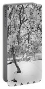 Branches In Snow Portable Battery Charger
