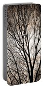 Branches Silhouettes Mono Tone Portable Battery Charger