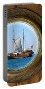 Brass Porthole Portable Battery Charger
