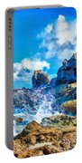 Breakers On The Rocks At Kenridgeview - On - Sea L B Portable Battery Charger
