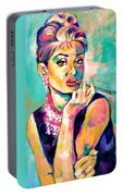 Audrey Hepburn Painting, Breakfast At Tiffany's Portable Battery Charger
