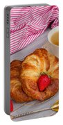 Breakfast With Croissants Portable Battery Charger