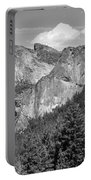 Bridalveil Falls From Tunnel View B And W Portable Battery Charger