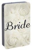 Bride Floral Design- Cream White Portable Battery Charger