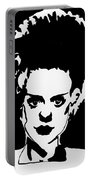 Bride Of Frankenstein In Black Portable Battery Charger