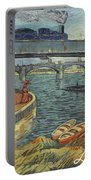 Bridge Across The Seine At Asnieres Portable Battery Charger