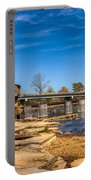 Bridge And Creek In The Fall Portable Battery Charger
