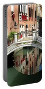 Bridge And Reflection Venice, Italy Portable Battery Charger