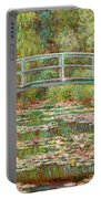 Bridge Over A Pond Of Water Lilies Portable Battery Charger