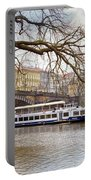 Bridge Over River Vltava Portable Battery Charger