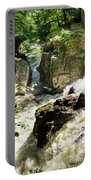 Bridge Over The River Braan, And The Black Falls In The Hermitage, At Dunkeld Portable Battery Charger