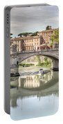 Bridge Over The River Tevere, Rome, Italy Portable Battery Charger