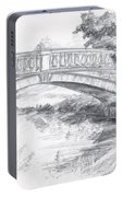 Bridge Over The River White Cart Portable Battery Charger