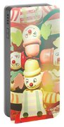 Bright Beaming Clown Show Act Portable Battery Charger