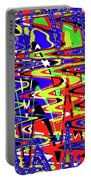 Bright Color Mix Abstract Portable Battery Charger