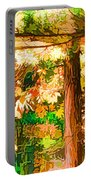 Bright Colored Leaves On The Branches In The Autumn Forest Portable Battery Charger