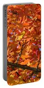 Bright Colorful Autumn Tree Leaves Art Prints Baslee Troutman Portable Battery Charger