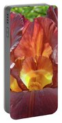 Bright Colorful Iris Flower Irises Baslee Troutman Portable Battery Charger