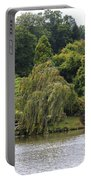 Bright Colors Of Autumn Trees On A Lake , Autumn Landscape. Portable Battery Charger