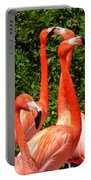 Bright Flamingos Portable Battery Charger