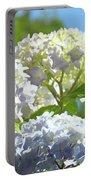 Bright Floral Art Pastel Blue Purple Hydrangeas Flowers Baslee Troutman Portable Battery Charger