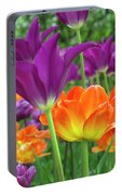 Bright Floral Portable Battery Charger