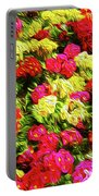 Bright Flowers Portable Battery Charger