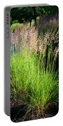 Bright Green Grass By The Pond Portable Battery Charger