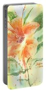 Bright Orange Flower Portable Battery Charger