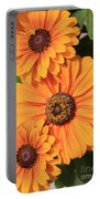 Bright Orange Flowers  Portable Battery Charger