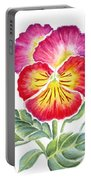 Bright Pansy Portable Battery Charger