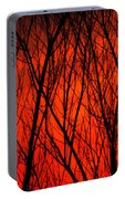 Bright Red Sunset Portable Battery Charger