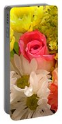 Bright Spring Flowers Portable Battery Charger by Amy Vangsgard